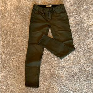 Free people size 24 army green jeans